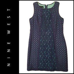 Nine West Women's Sleeveless Dress Blue Size 6